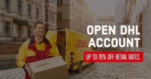 Open DHL Account with 70% Off