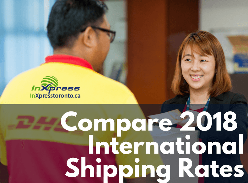 2018 DHL vs UPS vs FedEx Rate Comparison Canada